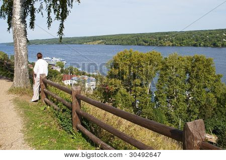 View Of The Volga River In Ples, Russia