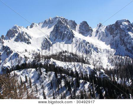 Beautiful alpine peaks