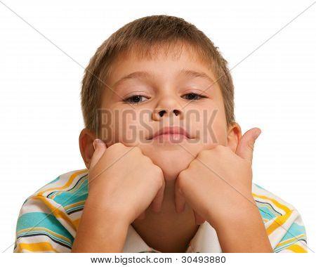 Portrait Of A Pensive Boy
