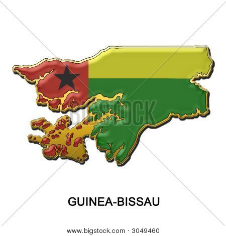 Guinea Bissau Metal Pin Badge