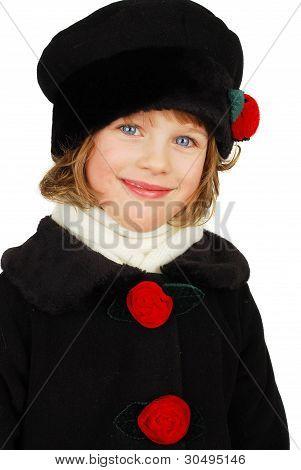 Little Caucasian Girl Portrait