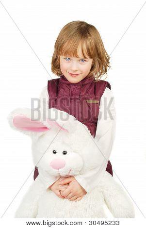 Little Girl With Bunny