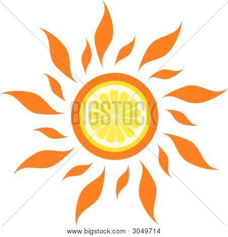 Vector Lemon Sun
