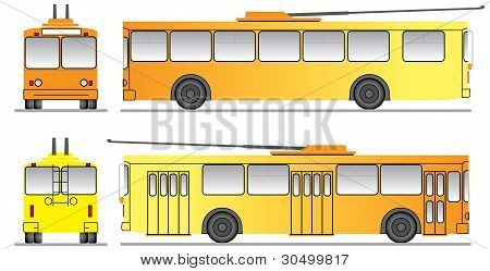 Template For The Design Of Trolleybus