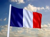 foto of liberte  - 3d rendered illustration of the french flag - JPG