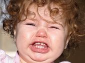 image of fussy  - Close up of a toddler - JPG
