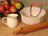 Vintage pie baking tools