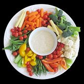 pic of crudites  - Colorful vegetable platter - JPG