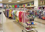 picture of thrift store  - Interior of a bright - JPG