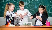 Chemistry Is Fun. Lab Microscope And Testing Tubes. Chemistry Science. Biology Experiments With Micr poster