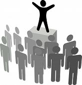 pic of motivation talk  - A speaker addresses an audience in a business address political campaign or announcement - JPG