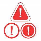 Warning Icon. The Attention Icon. Danger Symbol. Alert Icon poster