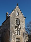 stock photo of poitiers  - Old stone house Poitiers cathedral square France - JPG
