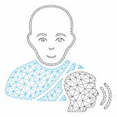 Mesh Buddhist Confession Polygonal 2d Vector Illustration. Model Is Based On Buddhist Confession Fla poster