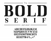Classic Vector Bold Serif Font And Alphabet. Vintage Abc, Elegant English Letters And Numbers poster