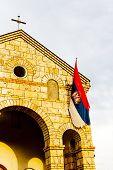 stock photo of former yugoslavia  - detail of church near Sargan - JPG
