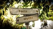 Street Sign The Direction Way To Facts Versus Myths poster