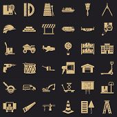 Shipping Land Icons Set. Simple Set Of 36 Shipping Land Vector Icons For Web For Any Design poster