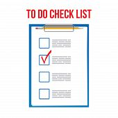 Creative Illustration Of To Do Check List Ticks, Clipboard On Background. Art Design Planning To-do  poster
