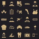 Best Work Icons Set. Simple Set Of 25 Best Work Vector Icons For Web For Any Design poster
