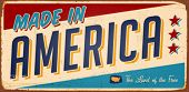 stock photo of 1950s  - Vintage Made in America Metal Sign  - JPG