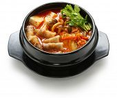 stock photo of pot-bellied  - kimchi stew - JPG