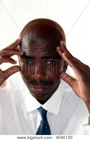 Worried African Businessman