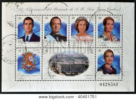 SPAIN - CIRCA 2001: Collection stamps shows royal family circa 2001