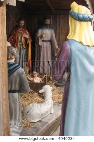 Baby Jesus Over Shoulder