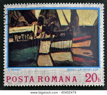 ROMANIA - CIRCA 1974: stamp printed in Romania shows