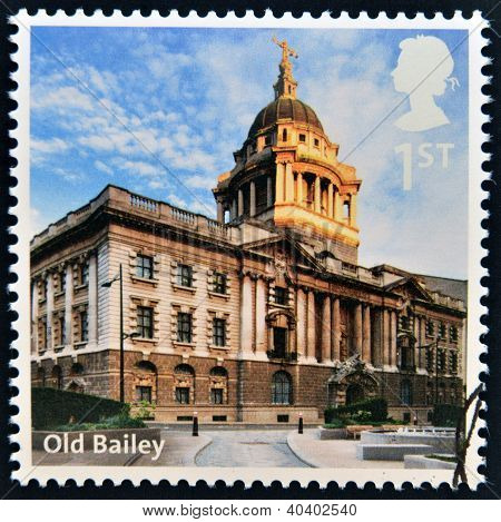UNITED KINGDOM - CIRCA 2012: A stamp printed in Great Britain shows Old Bailey circa 2012