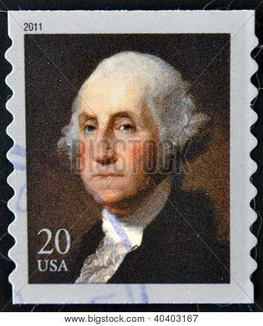 UNITED STATES OF AMERICA - CIRCA 2011: A stamp printed in USA shows president George Washington circ