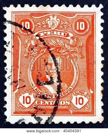 Postage stamp Peru 1924 Augusto Leguia, President