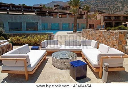 Outdoor Furniture In Summer Resort(Greece)