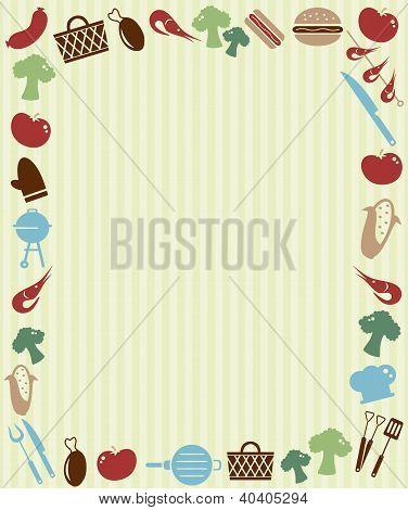 Barbecue picnic invitation