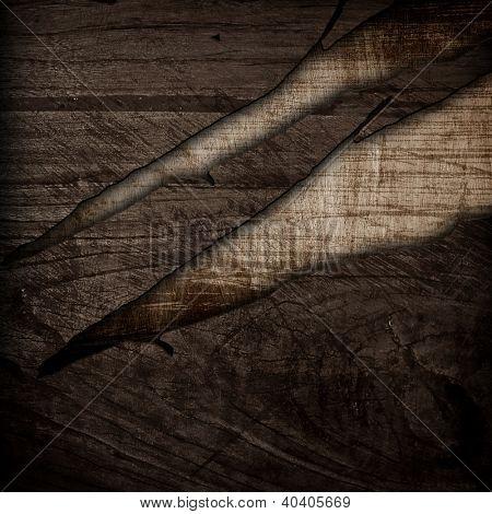 damaged wood board