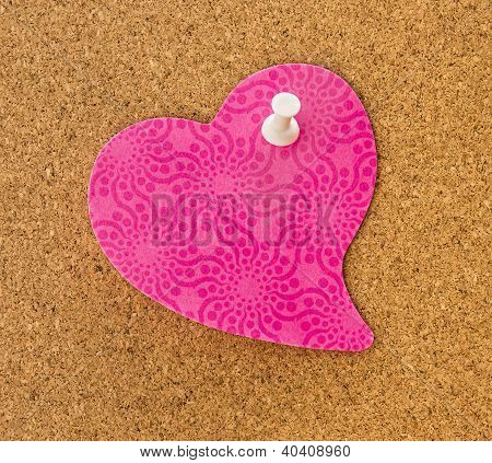 Pink Heart Memo