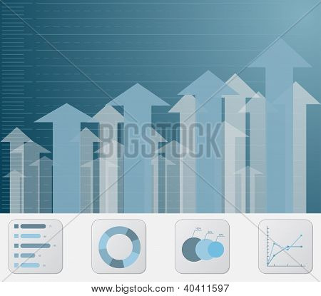 Business Graph Arrows Background