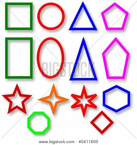 Various colorful geometric shapes