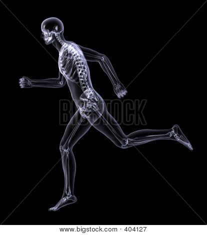 X-ray Man Running - Side View