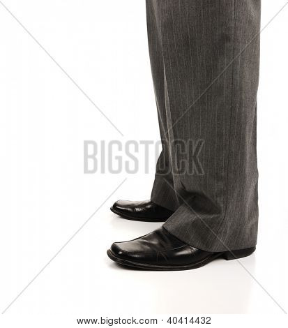 Businessman leg concept with copy space