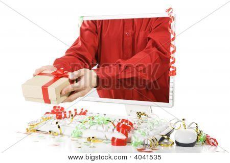 Dar el regalo de la pantalla del ordenador