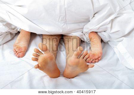 Couple having Sex Frau an der Spitze