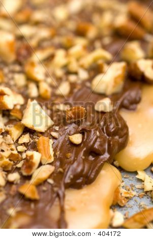 Melted Chocolate And Nuts