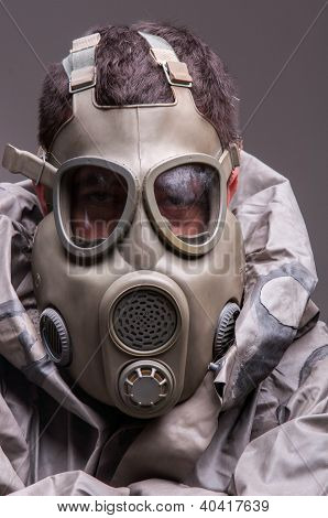 Man In Protective Suit