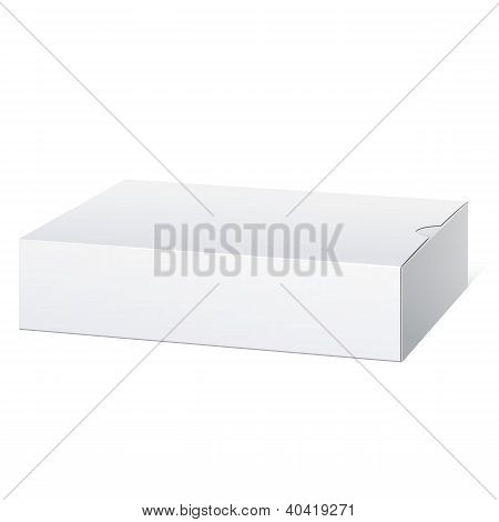 Paquete caja de cartón. Mentira horizontalmente.