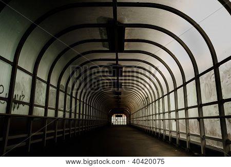 Hallway with brigh light angle shot interior