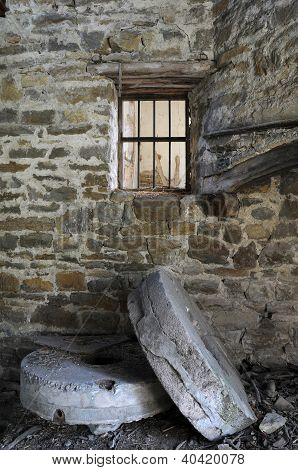 Millstones In The Abandoned Mill