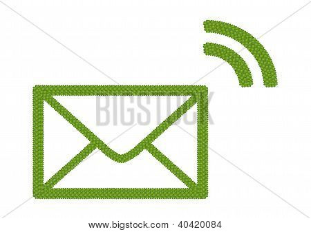 A Four Leaf Clover Of Envelope Icon With Rss Sign