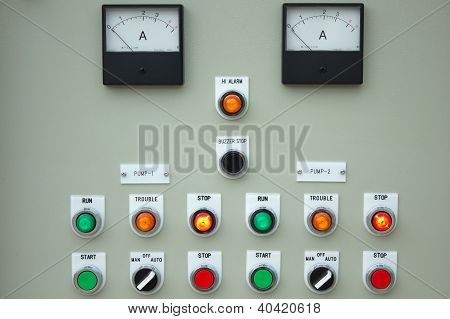 Control Panel Lights.